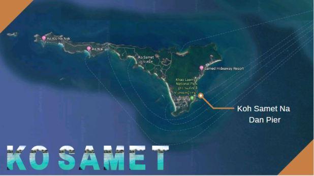 Carte de Ko Samet