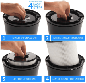 Silver Onyx Air Purifier Filter Change