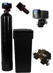 Fleck 5600sxt Metered On-demand 48,000 Grain Water Softener with brine tank