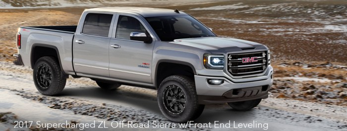 2017 High/Output Series 800HP ZL Off-Road Sierra w/Front End Leveling