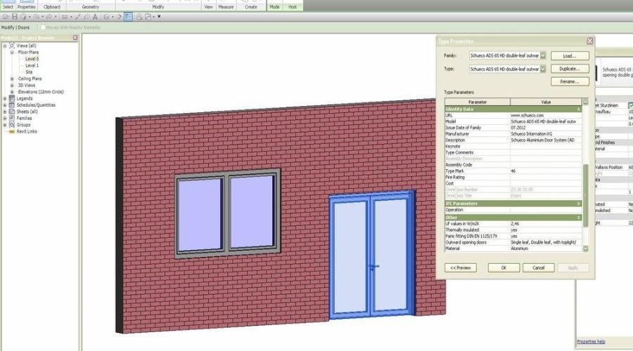 SCHUECO'S LIBRARY OF BIM FENESTRATION OBJECTS IS UK'S FIRST