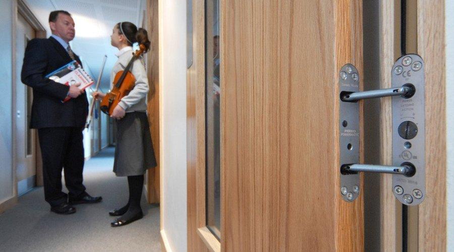 Closed doors help education