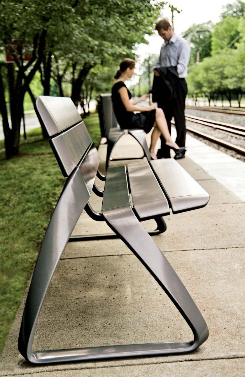 Metro 40 Aluminium bench lifestyle