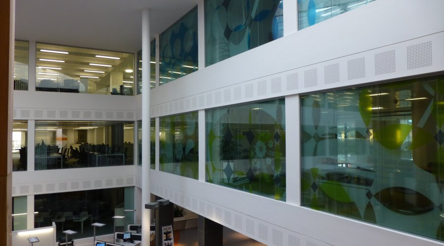 SAS International partitioning installed throughout the newly refurbished Derby Council building