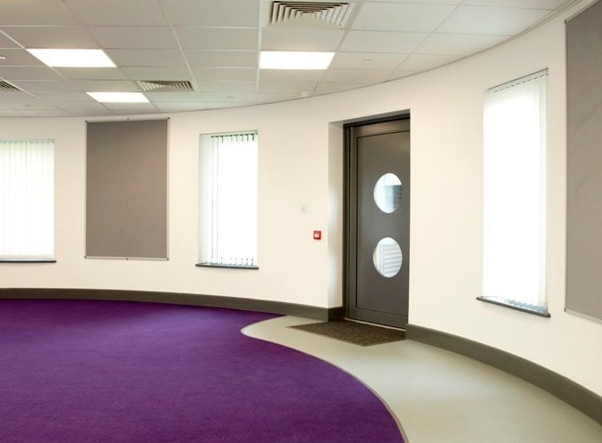 COLOURFUL CARPET ADDS AESTHETIC APPEAL AND DESIGN FLAIR TO WARRINGTON SCHOOL