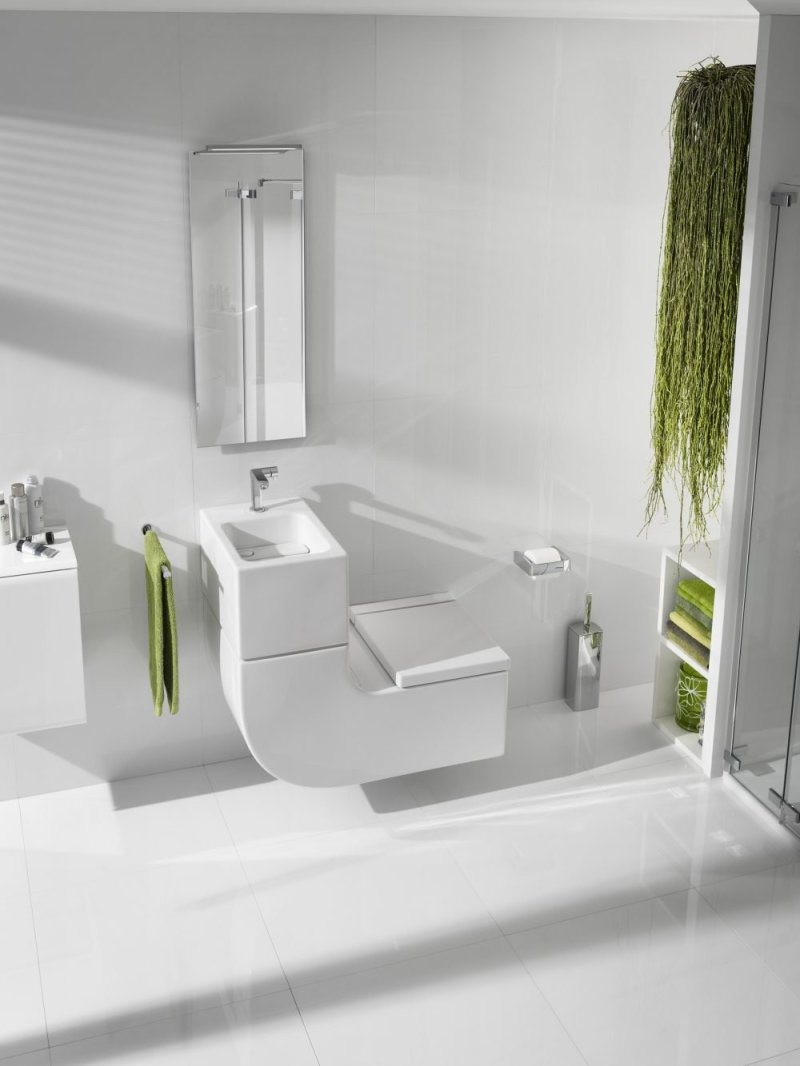 The W+W features Roca's reuse technology, which filters the water from the basin and reuses it to flush the WC, making it the greener option for washrooms in public buildings.
