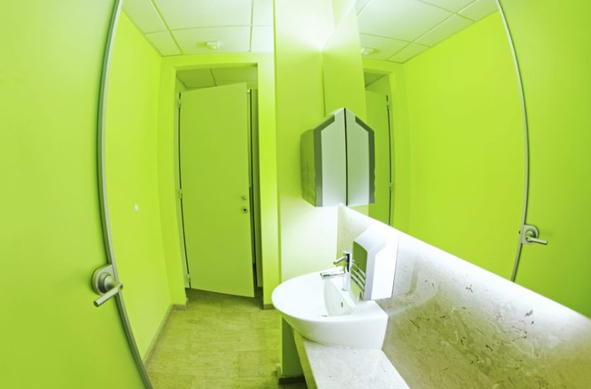 Latham's washroom solutions includes a range of striking decors