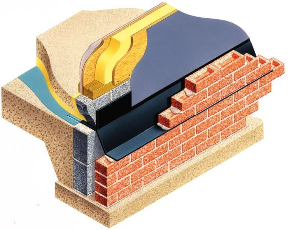 One of over 120 designs of preformed cavitray available to suit timber construction. This model provides the requisite damp protection requirements as well as extending through the cavity and across the oversite so the arrangement protects against rising gases such as radon.