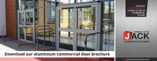 Commercial Doors Made Easy, in Jack Aluminium's New Brochure