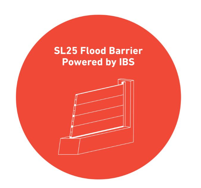 Meet the new SL25 lightweight flood barrier from IBS