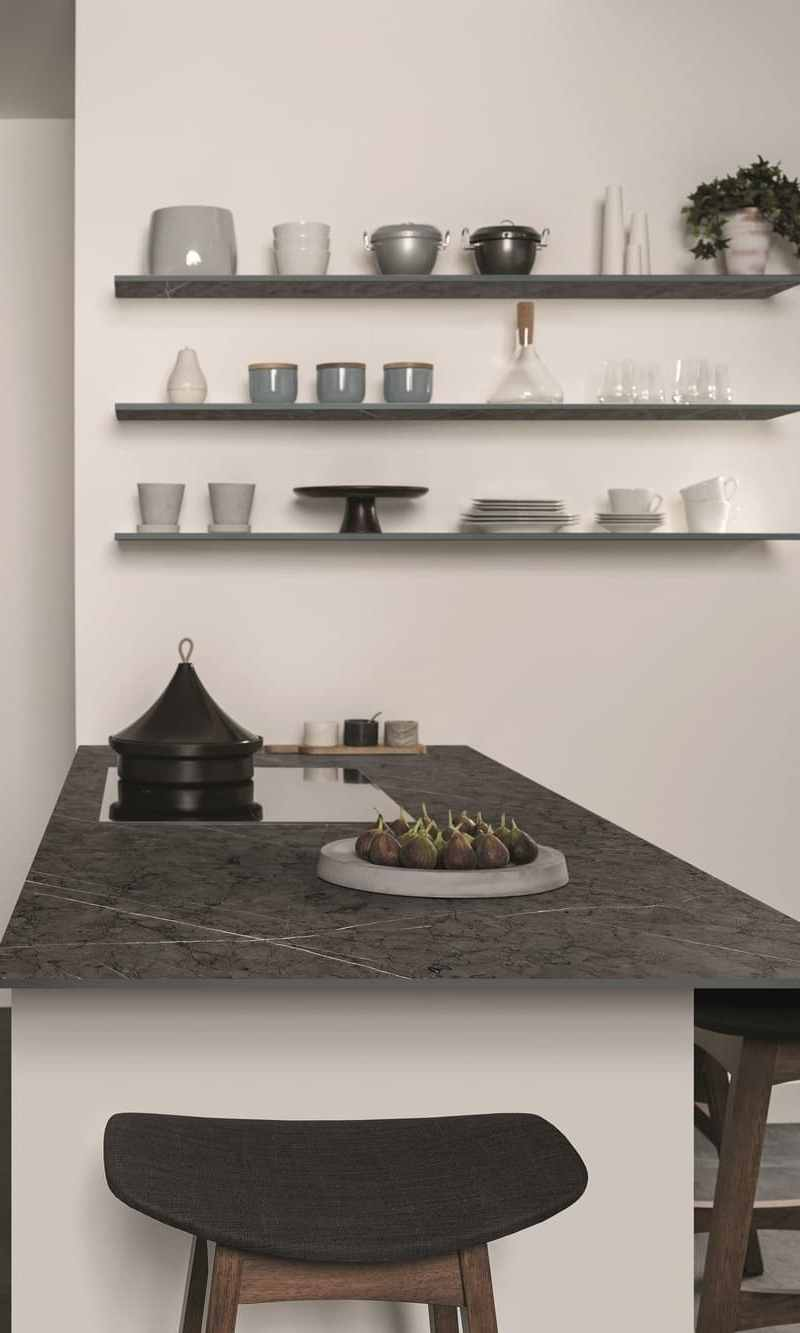Textured Kitchens with Generous Uber-Slim Surface Space on Wishlist's for Consumers