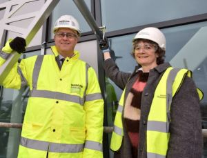 Morgan Sindall chief attends topping out ceremony for University's new £30m building