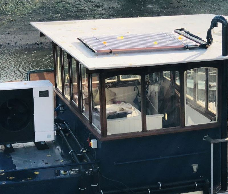 Heating a houseboat: New and quirky 'Grand Designs-like' project demonstrates the potential of the Ecodan.