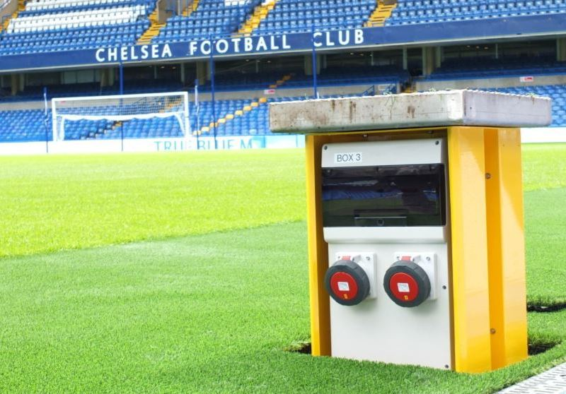 Pop Up Power Supplies ® specified at Chelsea Football Club