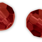 Quantum Glass Bead 6mm Red 15 Pieces.
