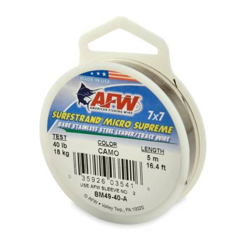 AFW Surfstrand Micro Supreme 7 x7 Strand Uncoated Trace Wire 40lb