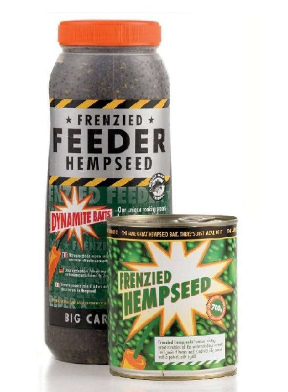 Dynamite Baits Frenzied Feeder Natural Hemp Seed 2.5L Jar