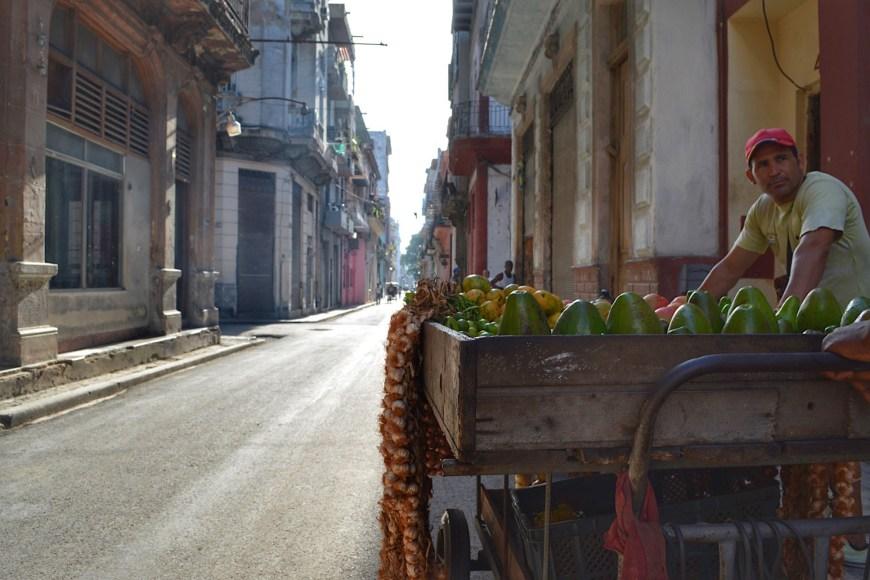 Cuban food cart
