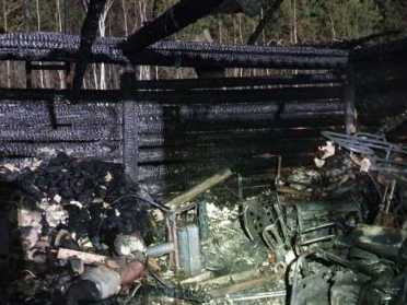 На Сарненщині пожежа знищида квадороцикл і бензогенератори