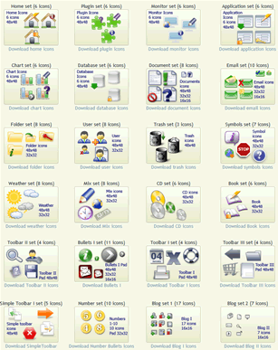 All time free Web Design Icon Sets