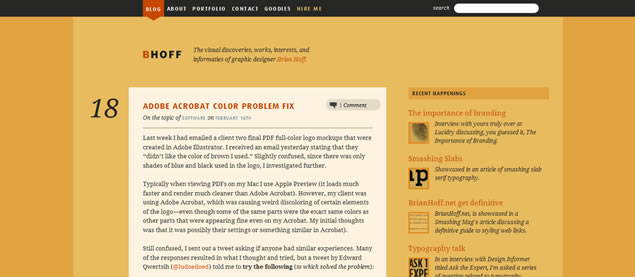 Brian Hoff - Awesome Blog Designs
