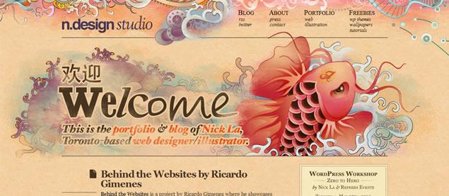 Nick La - Awesome Blog Designs