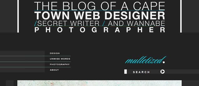 Brendon Grobler - Awesome Blog Designs