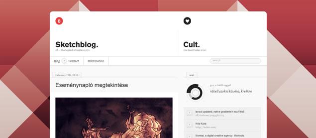Krisztian Puska - Awesome Blog Designs