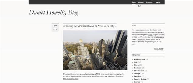Daniel Howells - Awesome Blog Designs
