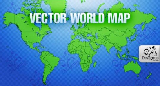 Vector World Map (.eps format)