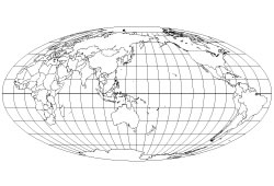 "Blank map of the World map ""Pacific Ocean centerd"""