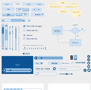 Wireframe Kit (Google Drawings)
