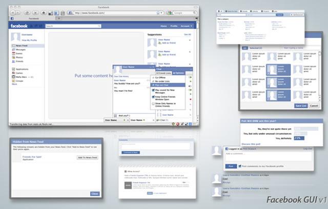 Facebook GUI (.psd)