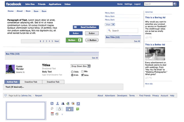 Facebook Applications (Omnigraffle)