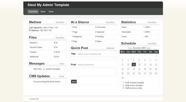 Steal My Admin Template