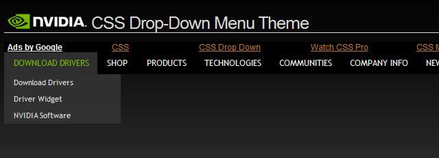 25 CSS Drop-Down Menus