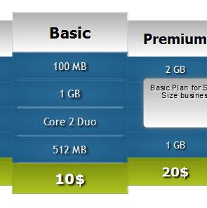 Animated Price Grid Using (CSS3)