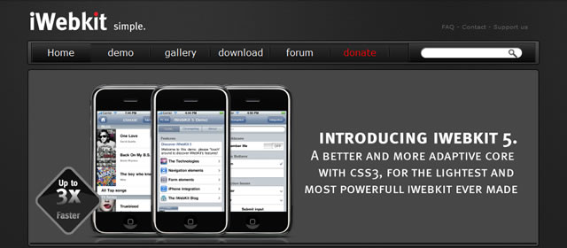 iWebKit – Make a quality iPhone Website or Webapp