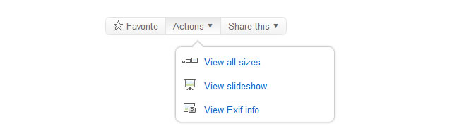 Simple Flickr Style Tooltip Menu