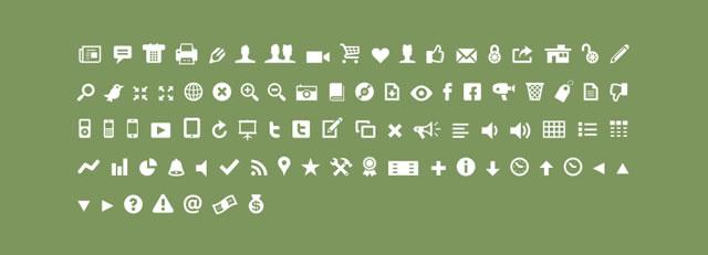 Modern Pictograms @fontface font