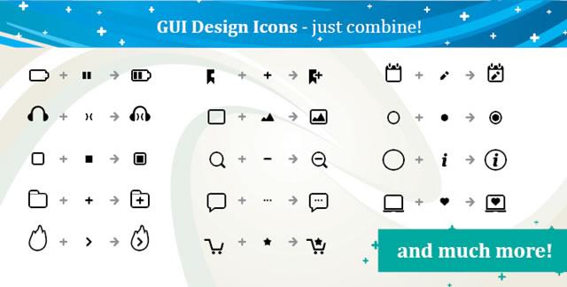 GUI Design Icons @fontface font