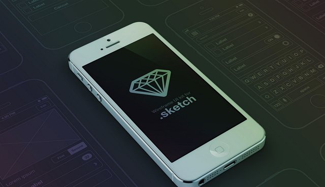 40 Free UI Kits and Templates for Sketch app iPhone Wireframe UI Set by Anthony Aubertin