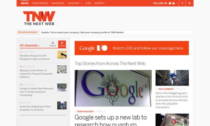 The Next Web content heavy web design Inspiration