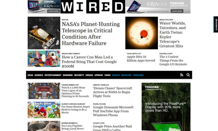 Wired content heavy web design Inspiration