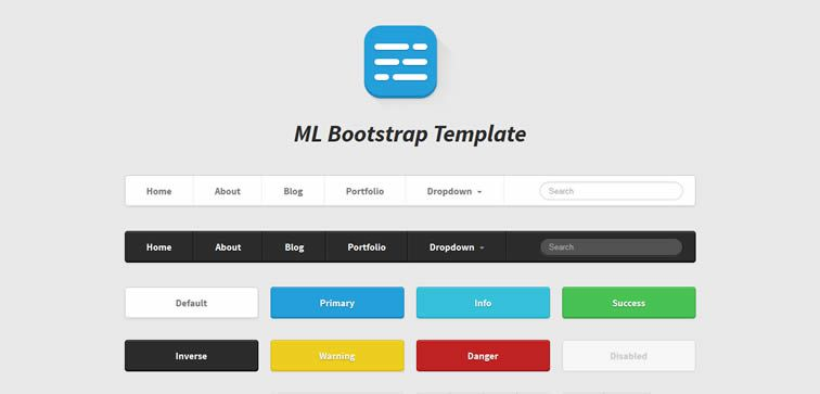Bootstrap Buttons Vector