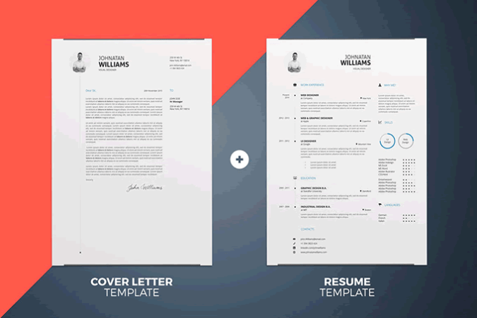 20 Beautiful   Free Resume Templates for Designers Simple Resume Cover Letter Template InDesign Word
