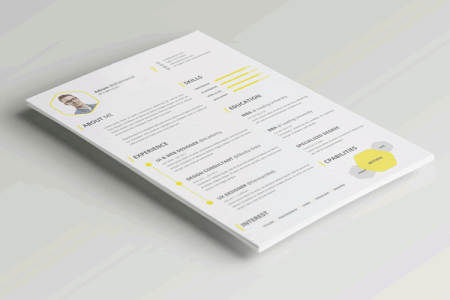 20 Beautiful   Free Resume Templates for Designers CV Resume Template Photoshop PSD
