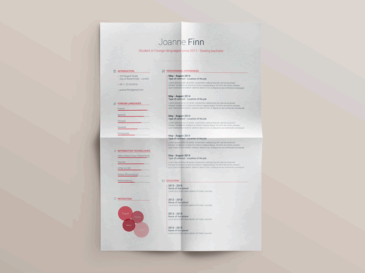 20 Beautiful   Free Resume Templates for Designers Free Resume Template Vol 2 Photoshop Photoshop PSD
