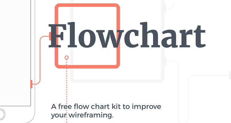 Mobile Wireframing Kit Flowchart Kit sketch ux flowchart userflow development free wireframe kit template UI design