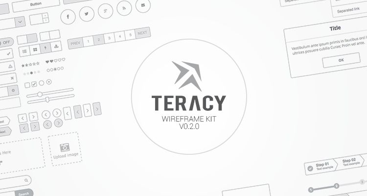 Teracy sketch web design development free wireframe kit template UI design